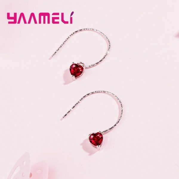 28565 53fe46 600x600 - Fashion Newest Women Jewelry Red Heart Shape AAAAA Cubic Zirconia 925 Sterling Silver Eardrop Wedding Excellent Earring