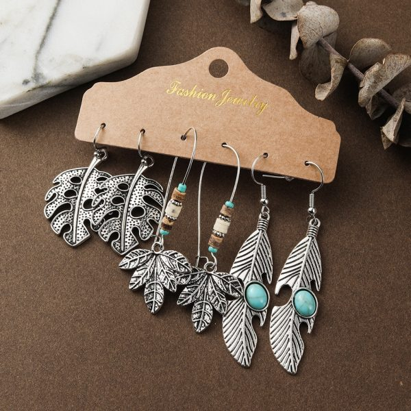 28637 a9a1ce 600x600 - Indian Jewelry Ethnic Red Blue Water Drop Earrings for Women Girls Round Leather Acrylic Stones Metal Tassel Fringe Earrings