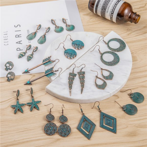 28850 324525 600x599 - 24 Styles Ancient Red Copper Color Bohemian Filigree Earring Boho Vintage Ethnic Hollow Geometric Drop Earrings for women Jewely