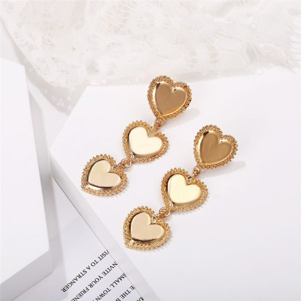 28900 2d6d44 600x600 - IF YOU Vintage Bohemia Gold Red Heart Earrings For Women Metal Round Dangle Drop Earrings Brincos Jewelry Party 2019 New Design