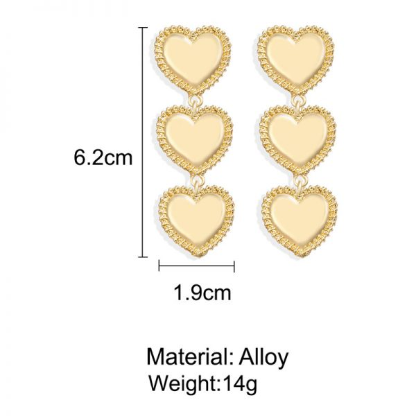 28900 52098a 600x600 - IF YOU Vintage Bohemia Gold Red Heart Earrings For Women Metal Round Dangle Drop Earrings Brincos Jewelry Party 2019 New Design