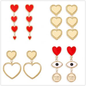 28900 9f95ec 300x300 - IF YOU Vintage Bohemia Gold Red Heart Earrings For Women Metal Round Dangle Drop Earrings Brincos Jewelry Party 2019 New Design