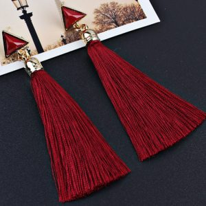 29270 8de7d7 300x300 - Fashion Bohemian Tassel Crystal Long Drop Earrings For Women Red Cotton Silk Fabric Fringe Earrings 2019 Fashion Woman Jewelry