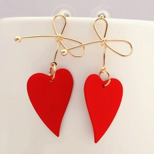 29289 08d816 300x300 - Fashion Gold Color Heart Geometric Drop Earring for Women Brincos Vintage Red Green Yellow Earring 2019 Irregular Korean Jewelry