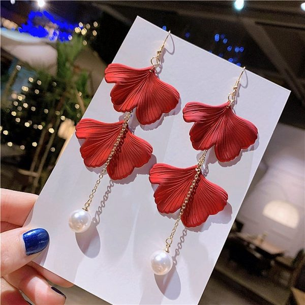 29371 784b7a 600x600 - 2019 New Vintage Exaggerate Red Acrylic Petal Tassel Statement Drop Earrings For Women Girls Wedding Ear Accessories Brincos