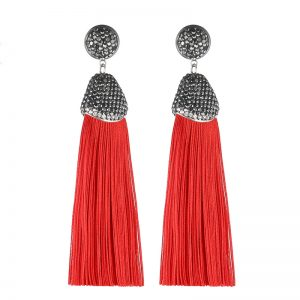 29599 4eb903 300x300 - Handmade 14 Colors Long Tassel Earrings Bohemian Black Red Pink White Blue Silk Crystal Dangle Drop Earrings For Women Jewelry
