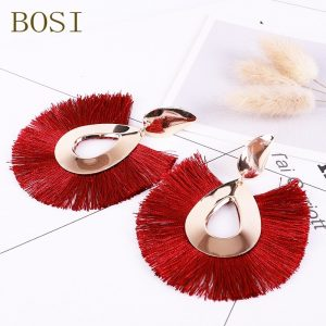 29867 a5b9e3 300x300 - 2019 Women Earrings Tassel Red New Bohemian Statement Luxury Long Big Handmade Earring jewelry Geometric Fringe Fashion Wedding