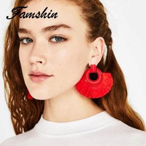 29873 ac2ded 300x300 - FAMSHIN Boho Drop Earrings For Women Tassel Earrings Big Statement Vintage Dangle Earrings Red Pink Black Blue Fashion Jewelry