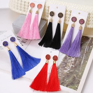 30113 aee02d 300x300 - Bohemian Crystal Tassel Drop Earrings for Women Female Fashion Ethnic Long Red Black Fringe Dangle Earring 2019 Jewelry