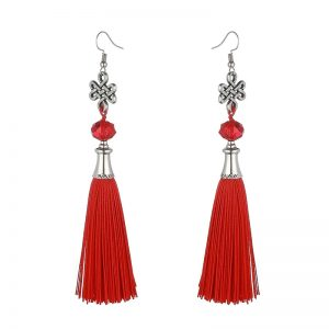 30156 adf37c 300x300 - New Fashion Bohemian Tassel Crystal Beads Long Earrings For Women Black Red Blue Silk Fabric Drop Dangle Earrings 2019 Jewelry