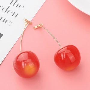 30265 1ff1c1 300x300 - New Fashion Red Cherry Fruit simple Earrings For Women Tassel Dangle Earrings Sweet Long Pendant Girl Gift  Korea Jewelry