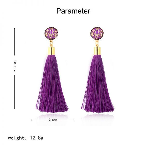 30287 0db28d 600x600 - Bohemia Crystal Flower Tassel Earrings Handmade Red Blue Fringed Long Drop Earrings boucle d'oreille For Women Girl 2019 Jewelry