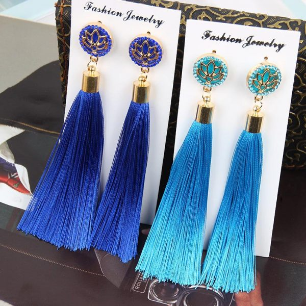 30287 c63bc0 600x600 - Bohemia Crystal Flower Tassel Earrings Handmade Red Blue Fringed Long Drop Earrings boucle d'oreille For Women Girl 2019 Jewelry