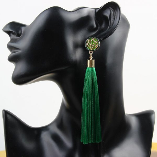30287 ff4607 600x600 - Bohemia Crystal Flower Tassel Earrings Handmade Red Blue Fringed Long Drop Earrings boucle d'oreille For Women Girl 2019 Jewelry
