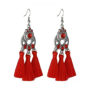30322 b263ab 300x300 - LOVBEAFAS Bohemian Crystal Tassel Earrings Black White Blue Red Pink Silk Fabric Long Drop Tassel Earrings For Women Jewelry