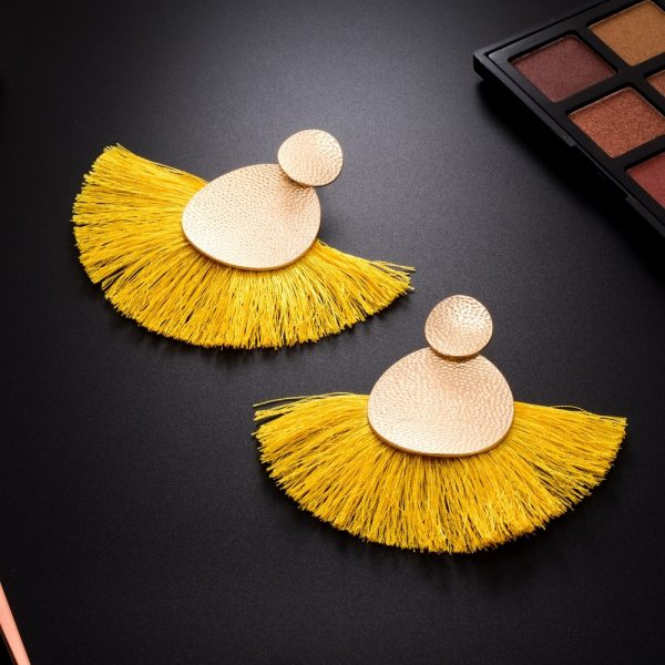 30433 43016b 600x600 - FAMSHIN Bohemia Red Long Tassel Earrings Vintage Ethnic Fringed Earring For Women Fashion Za Dangle Earrings Brincos Jewelry New