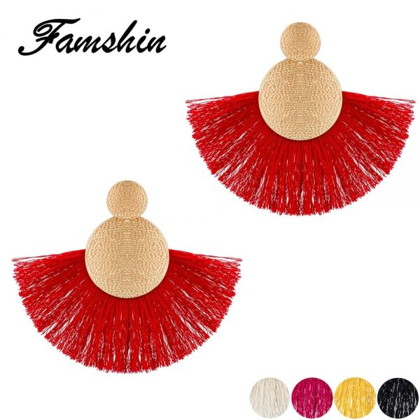 30433 e22ca8 600x600 - FAMSHIN Bohemia Red Long Tassel Earrings Vintage Ethnic Fringed Earring For Women Fashion Za Dangle Earrings Brincos Jewelry New