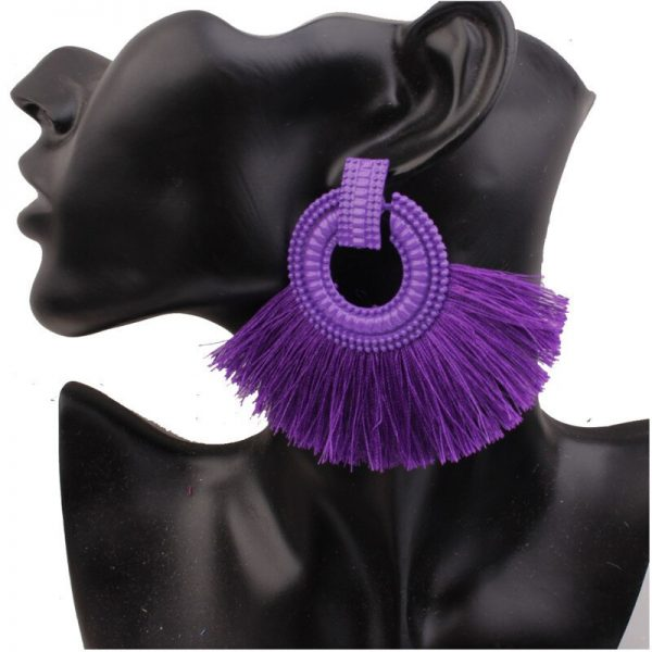 30469 42d9c1 600x600 - new Vintage Tassel Earrings Boho Long Drop Earring for Women red purple Yellow Handmade Earings Fashion Jewelry Female Hanging