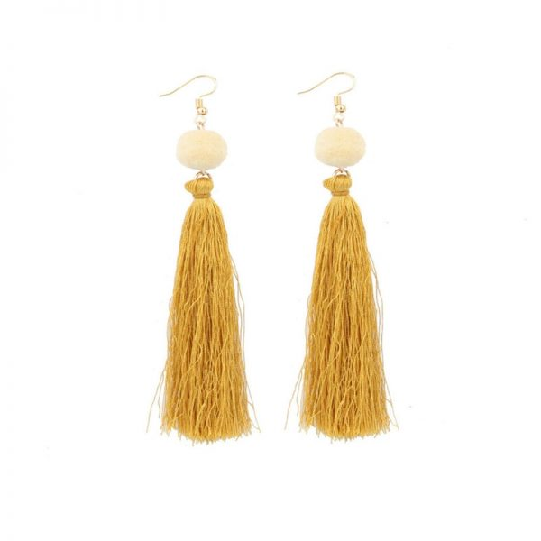 30568 2c1016 600x600 - Bohemian Handmade Statement Tassel Earrings for Women Drop Earrings Wedding Party Bridal Fringed Jewelry Gift for Mom Sister