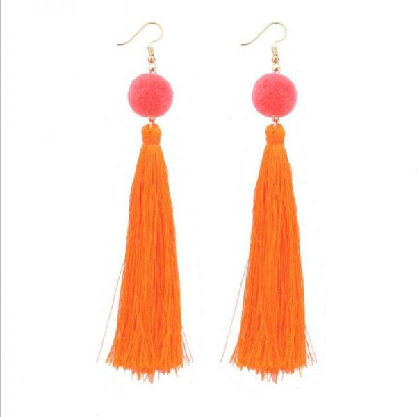 30568 87f904 600x600 - Bohemian Handmade Statement Tassel Earrings for Women Drop Earrings Wedding Party Bridal Fringed Jewelry Gift for Mom Sister