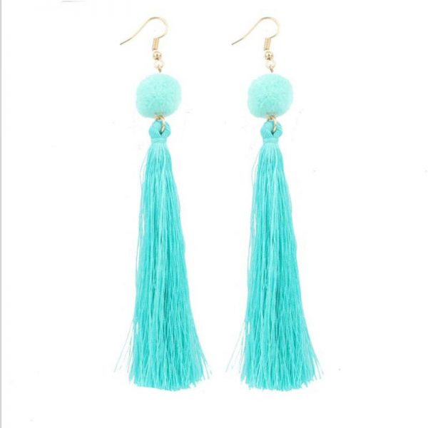 30568 c22ee5 600x600 - Bohemian Handmade Statement Tassel Earrings for Women Drop Earrings Wedding Party Bridal Fringed Jewelry Gift for Mom Sister