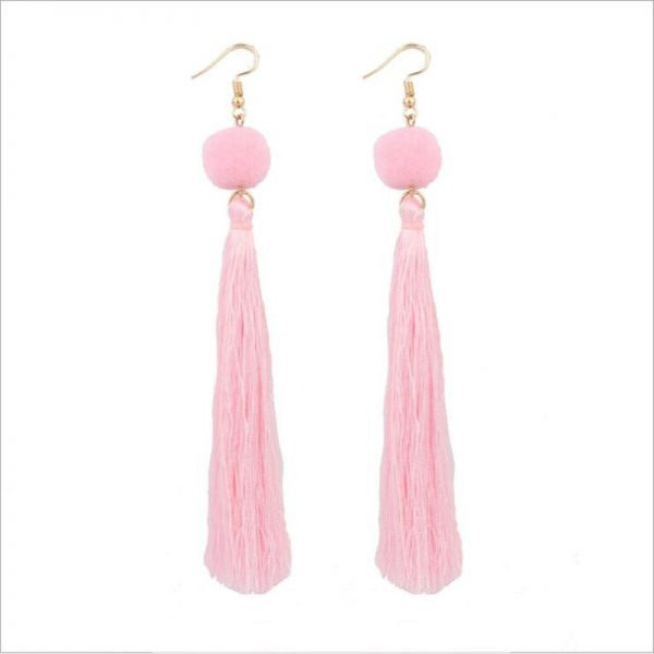 30568 ff9a82 600x600 - Bohemian Handmade Statement Tassel Earrings for Women Drop Earrings Wedding Party Bridal Fringed Jewelry Gift for Mom Sister