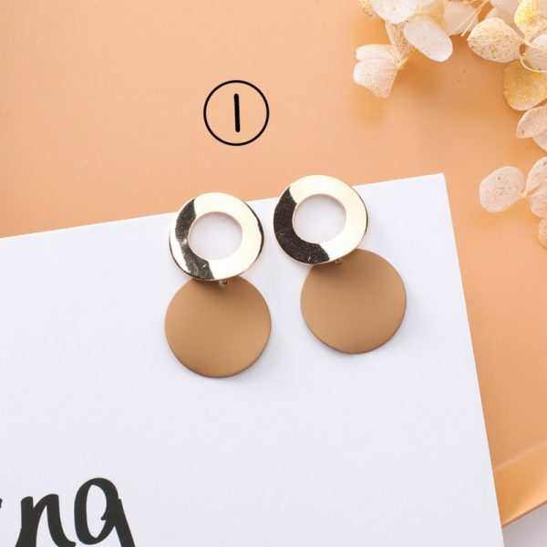 30659 0a3717 600x600 - 2018 New Korean Simple Girl Geometry Cold Style Earrings Fairy Long Tassel Drop Earrings for Women Fashion Jewelry Accessories