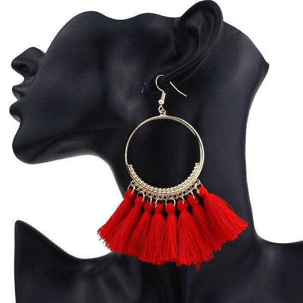 30666 11ec52 600x600 - KEJIALAI Bohemian Tassel Earrings Women Vintage Round Long Drop Earrings Women's Wedding Party Bridal Fringed Jewelry Gift E3358