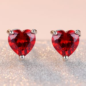 30965 1700f5 300x300 - HPXmas Love Heart-shaped Enamel Stud Earrings For Woman Cute Women New Red Color Copper Earring Banquet Jewelry Gift Decorations