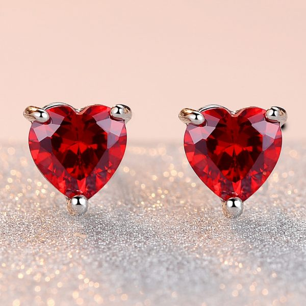 30965 1700f5 600x600 - HPXmas Love Heart-shaped Enamel Stud Earrings For Woman Cute Women New Red Color Copper Earring Banquet Jewelry Gift Decorations