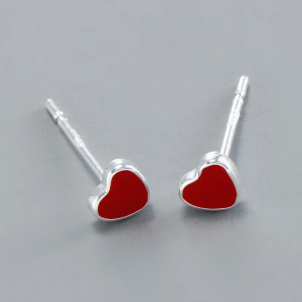 31055 39057a 600x600 - REETI 925 Sterling Silver Red H  Stud Earrings For Women 2018 New Trend Personality Lady Fashion Jewelry