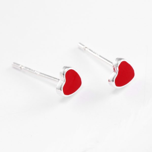 31055 6a4c76 600x600 - REETI 925 Sterling Silver Red H  Stud Earrings For Women 2018 New Trend Personality Lady Fashion Jewelry