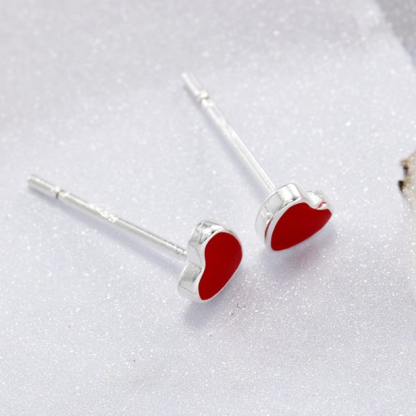 31055 89760b 600x600 - REETI 925 Sterling Silver Red H  Stud Earrings For Women 2018 New Trend Personality Lady Fashion Jewelry