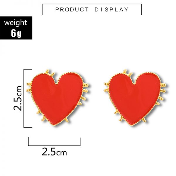 31211 b41b83 600x600 - Retro Bohemia Style Big Red Heart Earrings Acrylic Statement Stud Earring For Women Charm Wedding Jewelry Party