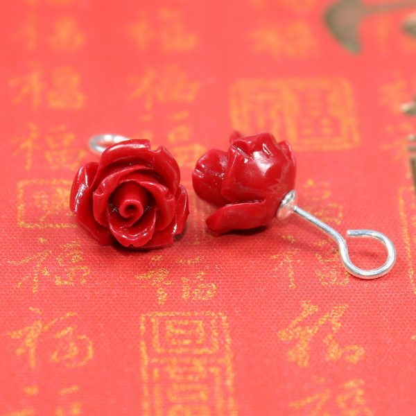31219 24b553 600x600 - HOT new 2020 Artificial coral stone stud earrings with red roses and sterling-silver-jewelry Free to send fine jewelry box