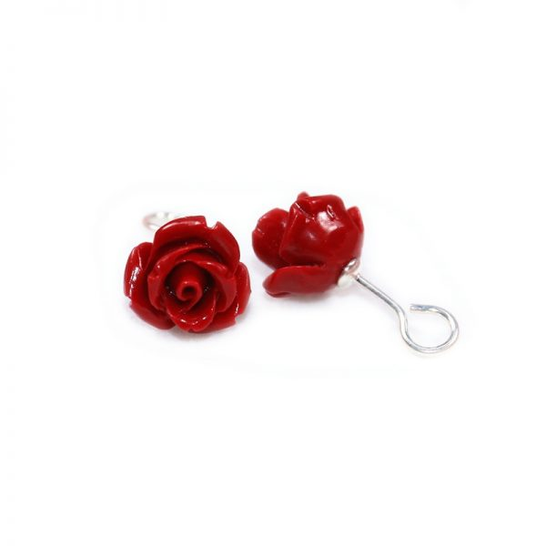 31219 6e092a 600x600 - HOT new 2020 Artificial coral stone stud earrings with red roses and sterling-silver-jewelry Free to send fine jewelry box