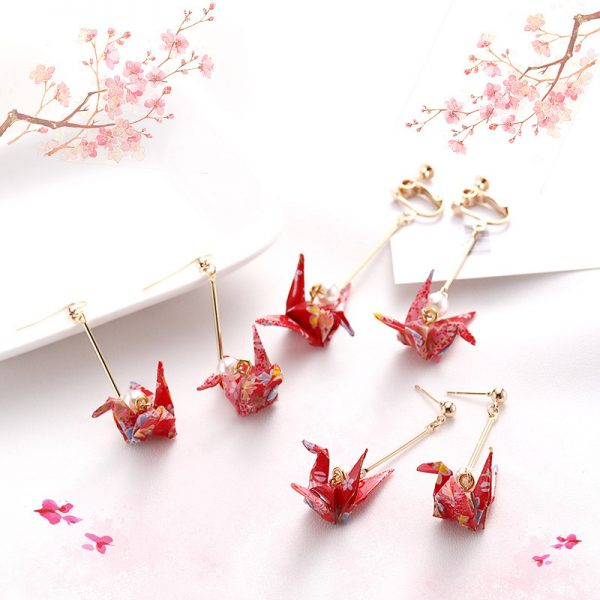 31230 8e35f4 600x600 - DoreenBeads Fashion Zephyr Stud Earrings Red Romantic Crane Pendant Trendy Jewelry For Women Accessories Gift Charms,1 Pair