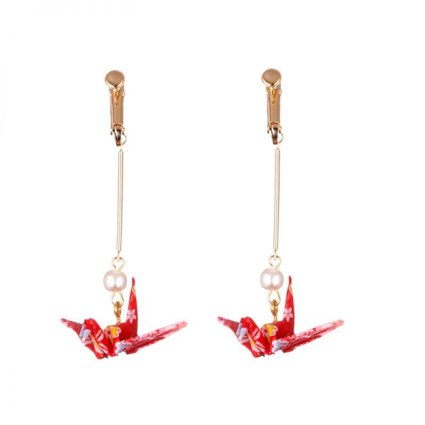 31230 9ee149 600x600 - DoreenBeads Fashion Zephyr Stud Earrings Red Romantic Crane Pendant Trendy Jewelry For Women Accessories Gift Charms,1 Pair