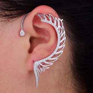 31316 0cbd52 300x300 - 1PC Angel Wing Ear Cuff Cubic Zirconia Women Wedding Party Movie Star Red Carpet Earring Boucle d'oreill