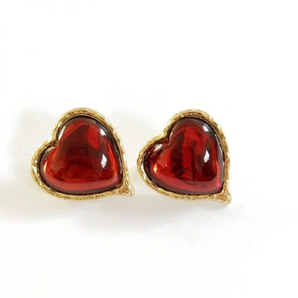 31383 f3a72c 600x600 - Free Shipping Sweet Red Colors Styles Geometric Alloy Party Stud Earring For Women