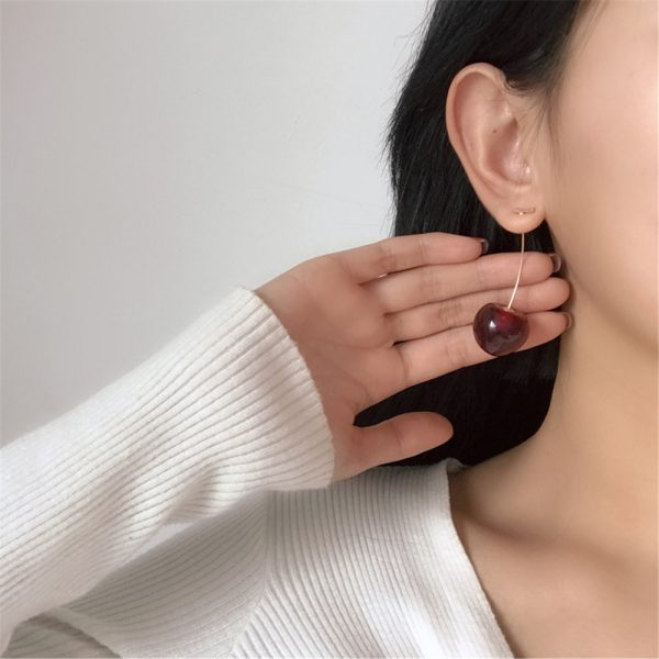 31399 69e88d 600x600 - 1 Pair Simulation Red Cherry Earrings Sweet Bohemian Fashion Jewelry Women Cherry Earrings Fruit Stud Dangle Drop Christmas Girl