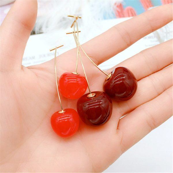 31399 f40fde 600x600 - 1 Pair Simulation Red Cherry Earrings Sweet Bohemian Fashion Jewelry Women Cherry Earrings Fruit Stud Dangle Drop Christmas Girl