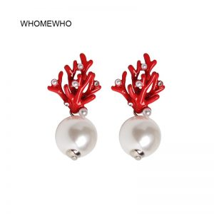 31463 23be92 300x300 - WHOMEWHO Red Coral Deer Antler White Faux Pearl Stud Christmas  Earrings Fashion Xmas Gift Jewelry Holiday Party Ear Accessories