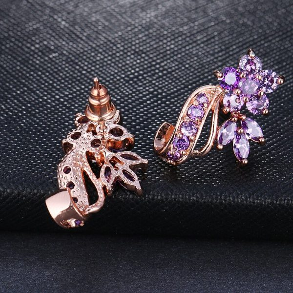 31494 0a013e 600x600 - EMMAYA Fashion Red CZ Crystal Earrings Colorful Flower Stud Earrings Rose Gold Color Earrings for Women Cheap Price