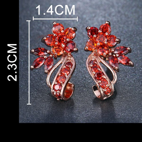 31494 deab62 600x600 - EMMAYA Fashion Red CZ Crystal Earrings Colorful Flower Stud Earrings Rose Gold Color Earrings for Women Cheap Price