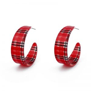 31577 d42a38 300x300 - Dayoff Europe Huge Red Gattice Acetic Acid Hoop Earrings Women Jewelry Big Round Eardrop Plastic Vintage Open Hoop Earring E579