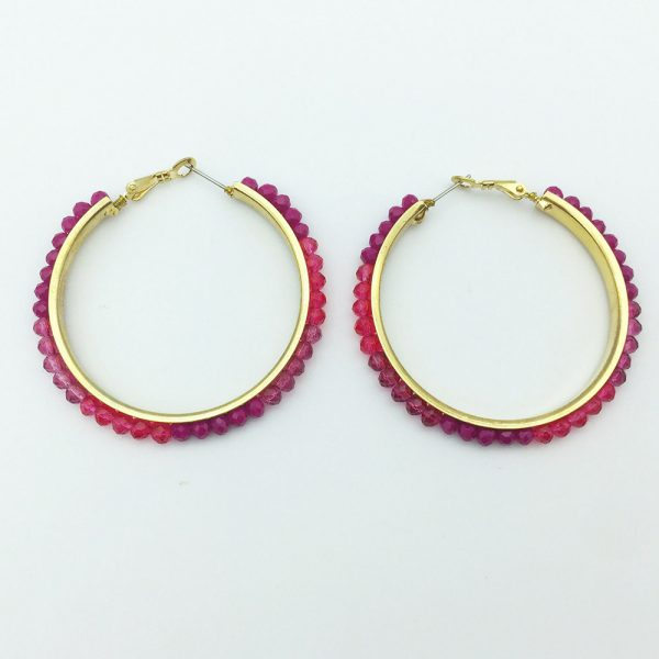 31578 02b5ef 600x600 - Personalized trendy red bead metal hoop earring fashion hot selling popular earring for women