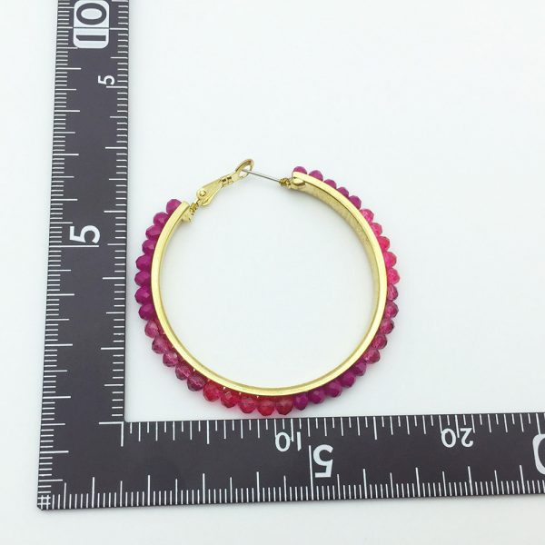31578 e4c9cf 600x600 - Personalized trendy red bead metal hoop earring fashion hot selling popular earring for women