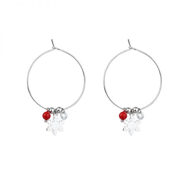 31621 1b212c 600x600 - Silver Color Snowflake Crystal Round Circle Loop Earring Lucky Red Beads Pendant Hoop Earrings Fashion Jewelry For Women
