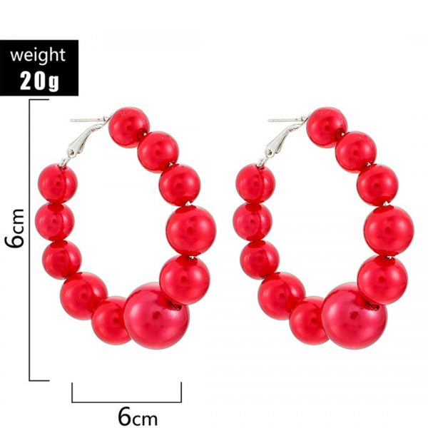31630 ca6ccc 600x600 - Bohemian Red Beads Hoop Earring Punk Large Circle Huggie Hoop Earring For Women Vintage Statement Geometric Earring Jewelry